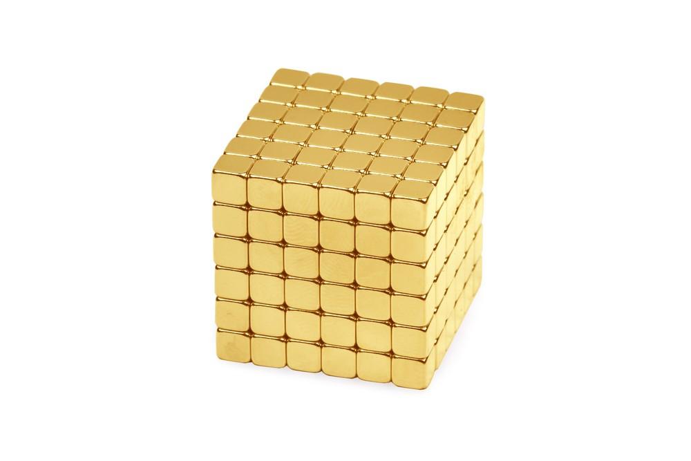 Forceberg TetraCube - куб из магнитных кубиков 4 мм, золотой, 216 элементов в Москве
