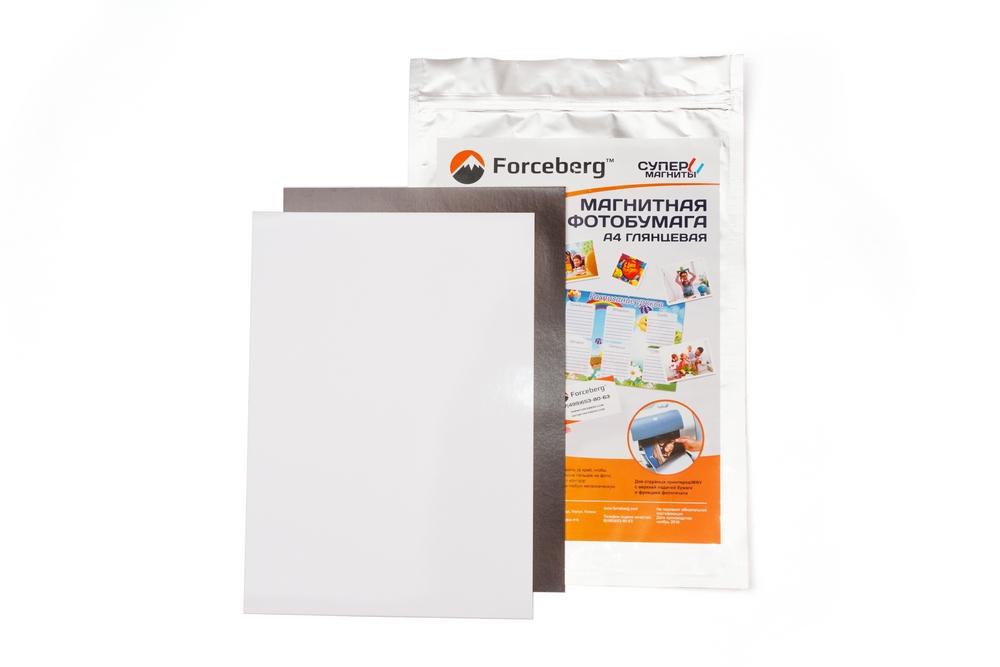 Магнитная бумага А4  глянцевая  Forceberg 5 листов в Красноярске