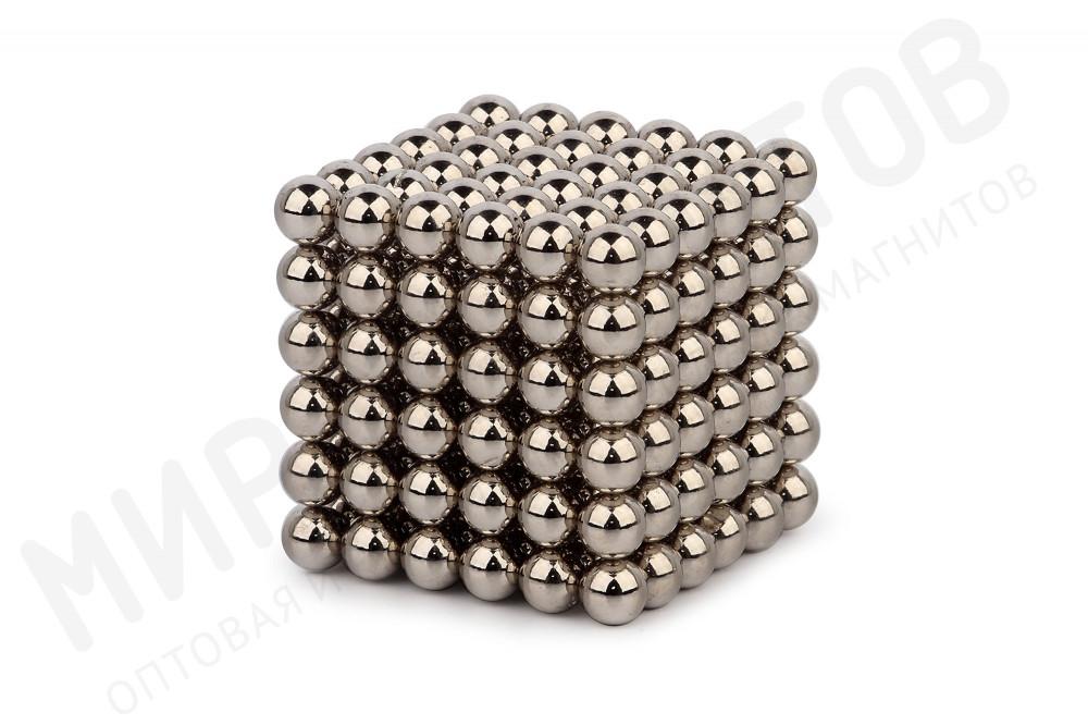 Forceberg Cube - куб из магнитных шариков 6 мм, стальной, 216 элементов в Воронеже
