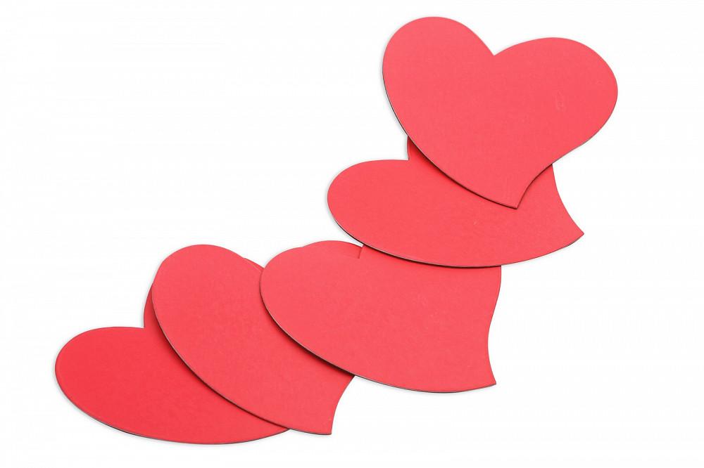 Магниты-сердечки, Forceberg, комплект из 5 шт в Ижевске