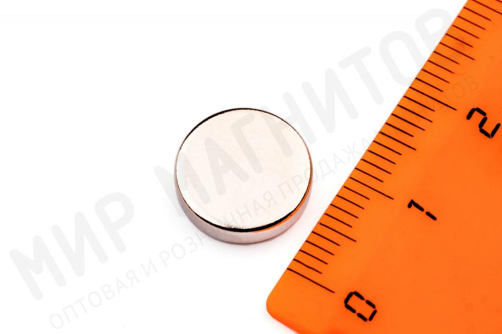 Неодимовый магнит диск 12х3 мм в Москве
