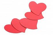 Магниты сердечки (5 шт)