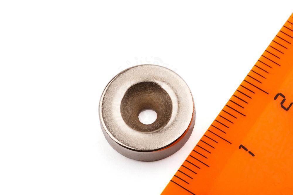 Неодимовый магнит диск 15х4.5 мм с зенковкой 2.5/8 мм в Красноярске