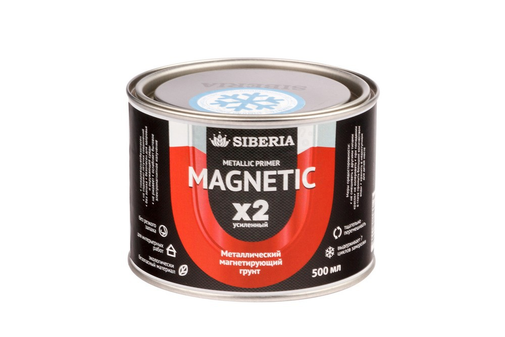 Магнитная краска Siberia 0,5 литра, на 1 м² в Брянске