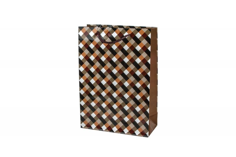Подарочный пакет 22х31х9 см в клетку в Иваново