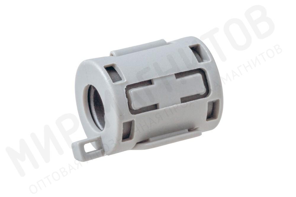 Ферритовый фильтр на кабель с защелкой ZCAT1518-0730, серый в Люберцах