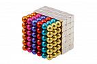 Forceberg Cube - куб из магнитных шариков и кубиков 5 мм, цветной/стальной, 216 элементов