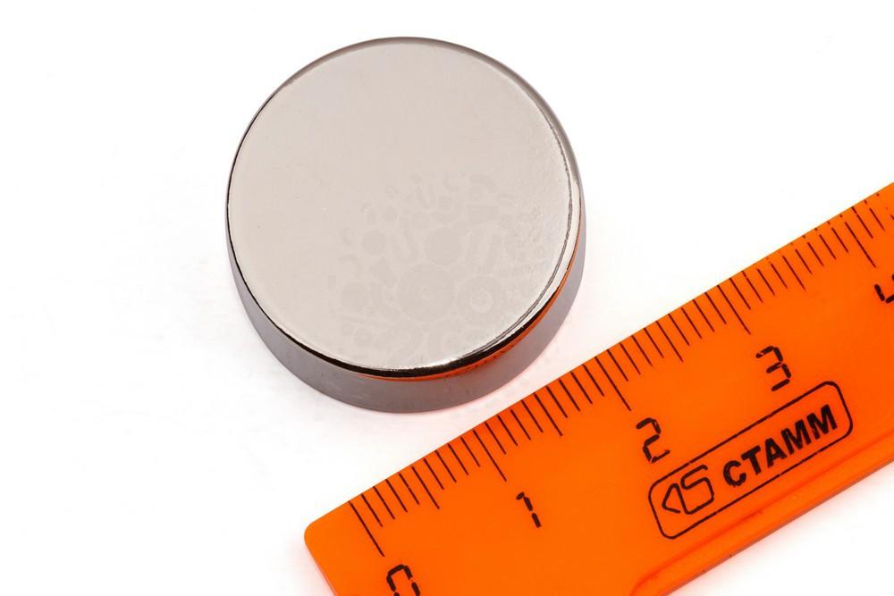Неодимовый магнит диск 25х10 мм в Воронеже