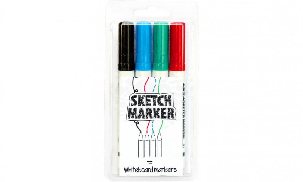 Маркеры для магнитной доски SketchPaint, 4 цвета в Астрахани