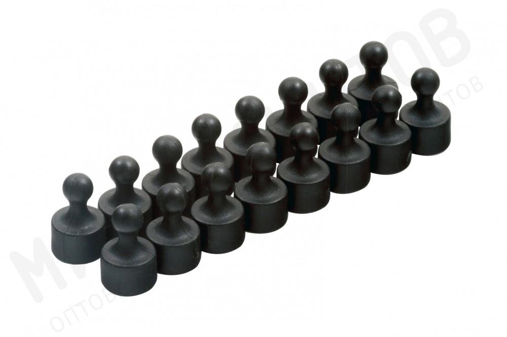 Неодимовый магнит для магнитной доски Пешка Forceberg 12х20 мм, черный, 16 шт в Белгороде