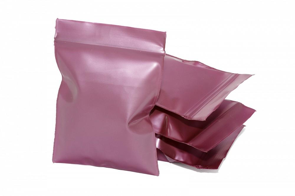 Упаковочные цветные зип пакеты Forceberg HOME & DIY с замком zip-lock 6х7 см, бордовый, 50 шт в Белгороде