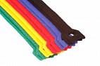 Многоразовые нейлоновые цветные хомуты-липучки Forceberg Home&DIY 150х12 для стяжки и подвязки, 10шт