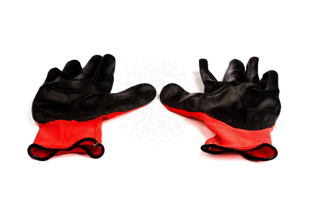 Перчатки нейлоновые, с нитриловым покрытием XL, черные в Иваново