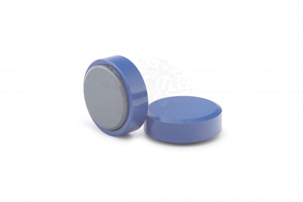 Магнит для доски круглый D30 мм, синий в Курске