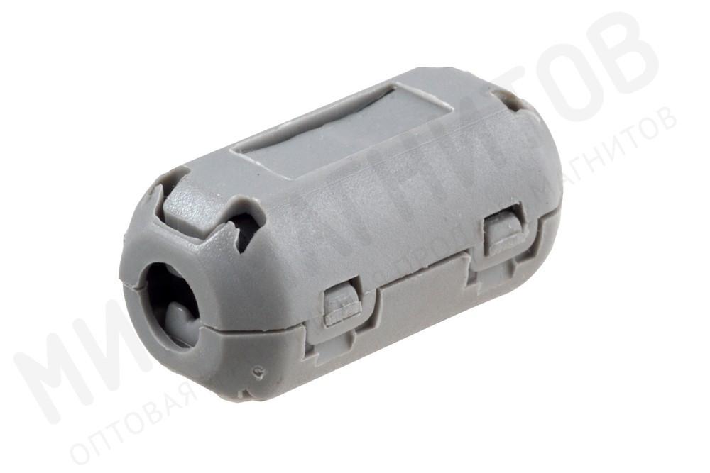Ферритовый фильтр на кабель с защелкой ZCAT1730-0730A, серый в Новосибирске