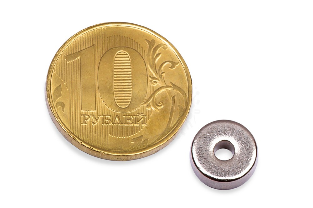 Неодимовый магнит кольцо 10х3х4 мм в Москве