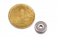 Неодимовый магнит кольцо 10x3x4 мм
