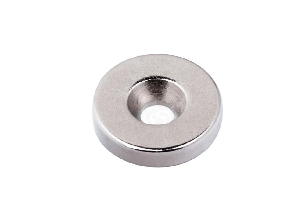 Неодимовый магнит диск 16х3.5 мм с зенковкой 4.2/7.2 мм в Иваново