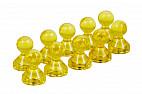 Неодимовый прозрачный магнит для магнитной доски Пешка Forceberg 15х21 мм, желтый, 10 шт