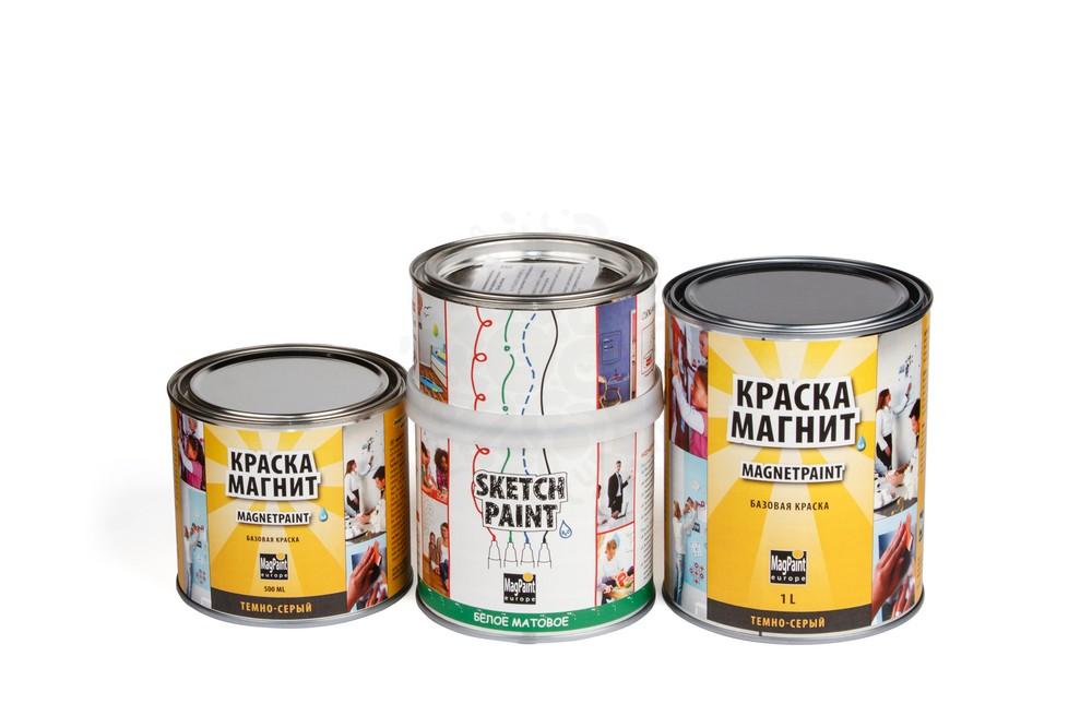 Набор красок Magpaint для магнитно-маркерной стены, матовая, 3 м² в Ижевске