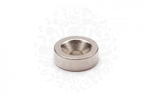 Неодимовый магнит диск 15х5 мм с зенковкой 4.5/10 мм в Самаре