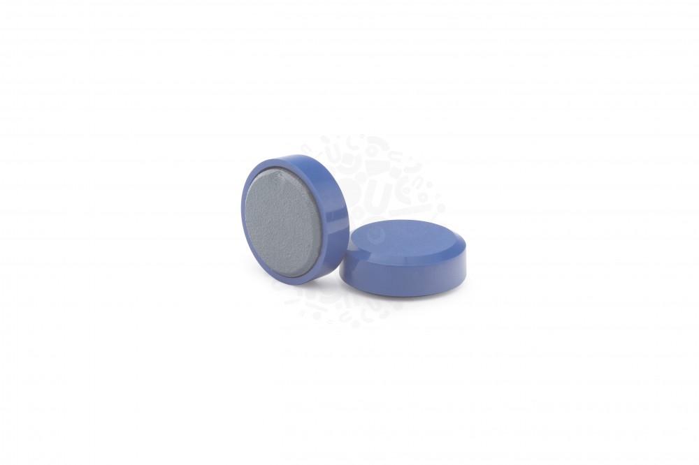 Магнит для досок круглый D20 мм, синий в Курске