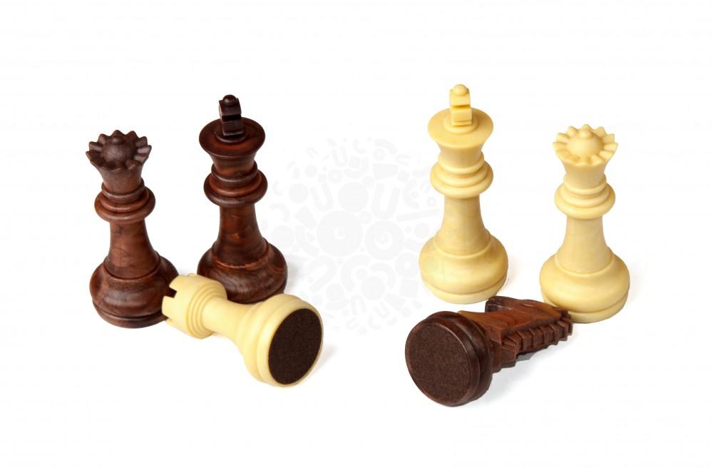 Магнитные шахматы (под дерево)
