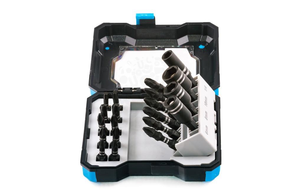 Набор бит для ударного шуруповерта с магнитными держателями бит и шурупов в кейсе, 20 предметов в Волгограде