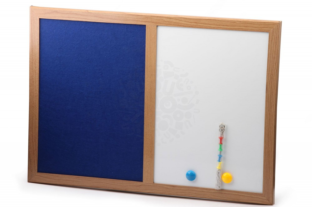 Магнитно маркерная доска А3 c текстильным покрытием в Перми