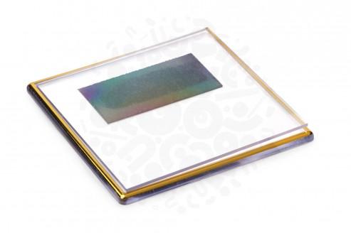 Прямоугольный акриловый магнит 100х100мм (Золото) в Самаре