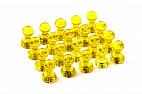 Неодимовый прозрачный магнит для магнитной доски Пешка Forceberg 11х17 мм, желтый, 20 шт