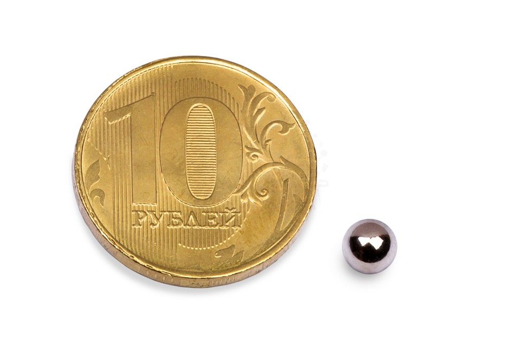 Неодимовый магнит шар 7 мм в Новосибирске