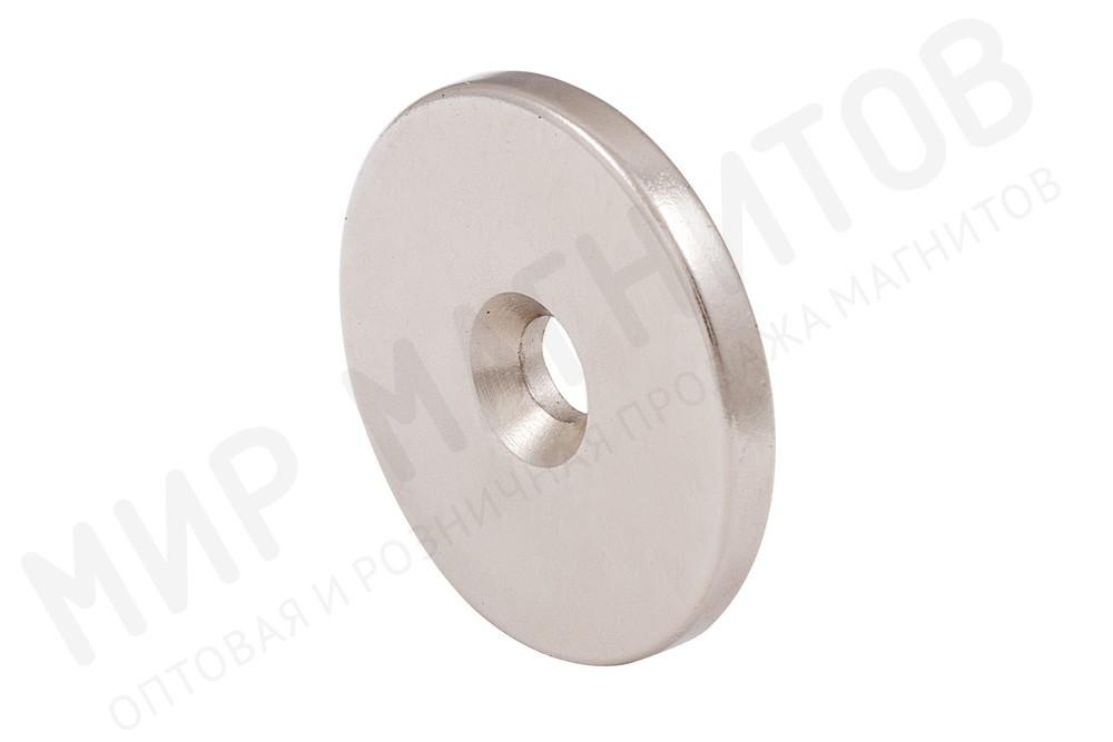 Неодимовый магнит диск 25х3 мм с зенковкой 4/7.5 мм в Владивостоке