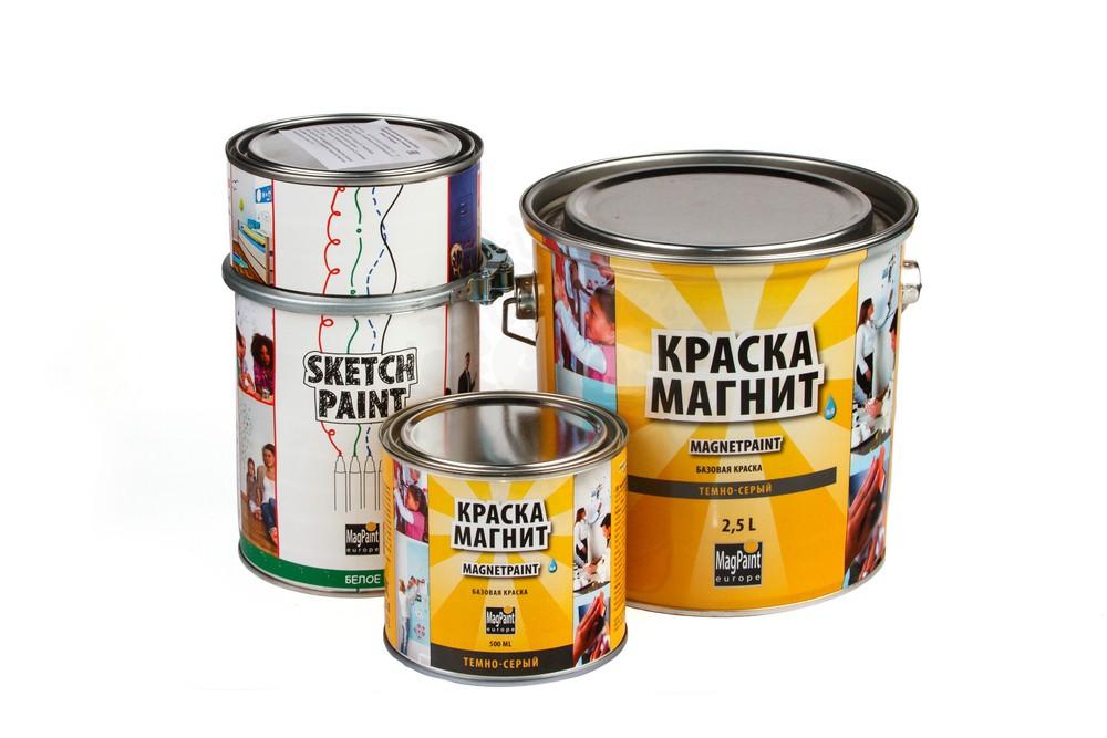 Набор красок Magpaint для магнитно-маркерной стены, глянцевая, 6 м² в Иваново