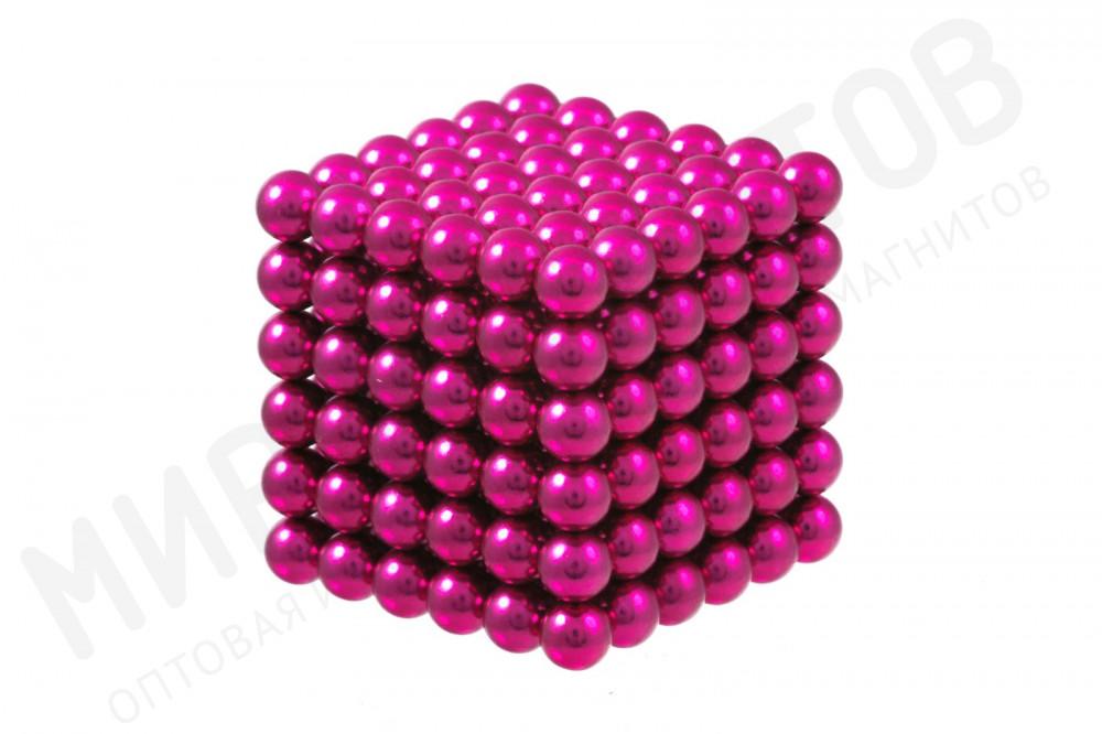 Forceberg Cube - куб из магнитных шариков 5 мм, розовый, 216 элементов в Саратове