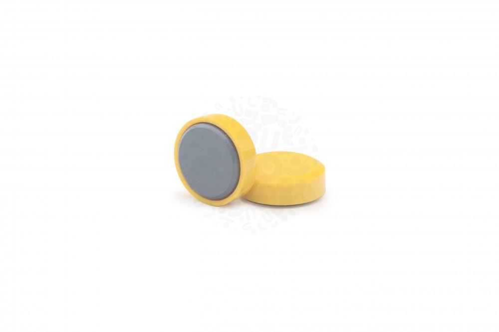 Магнит для досок круглый D20 мм, жёлтый в Курске