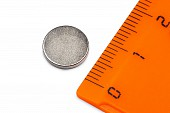 Неодимовый магнит диск 10х1.5 мм