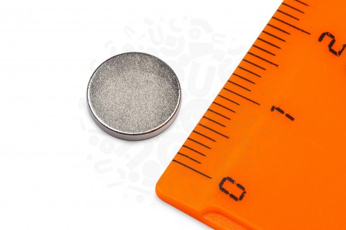 Неодимовый магнит диск 10х1.5 мм в Самаре