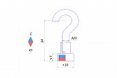 Магнитное крепление с крючком Е10 (М3)