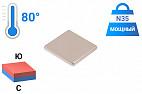Неодимовый магнит прямоугольник 25х25х3 мм, N35