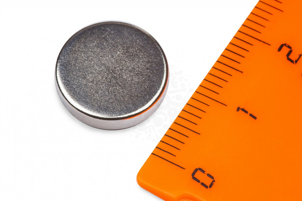 Неодимовый магнит диск 14х3 мм в Омске