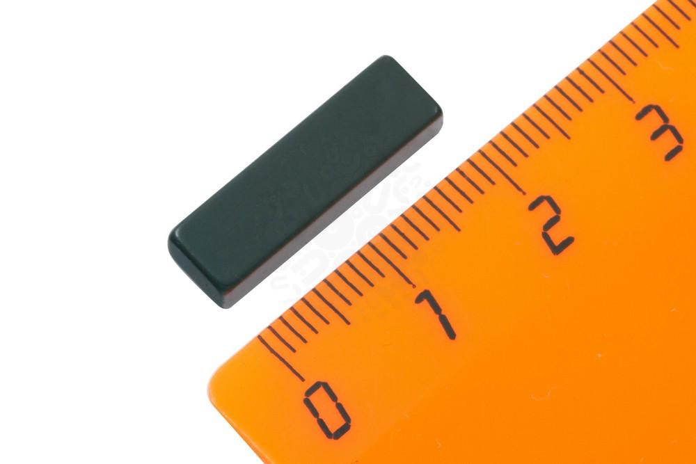 Неодимовый магнит прямоугольник 20х4х6 мм, черный, N50 в Краснодаре