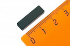 Неодимовый магнит прямоугольник 20х4х6 мм, черный, N50