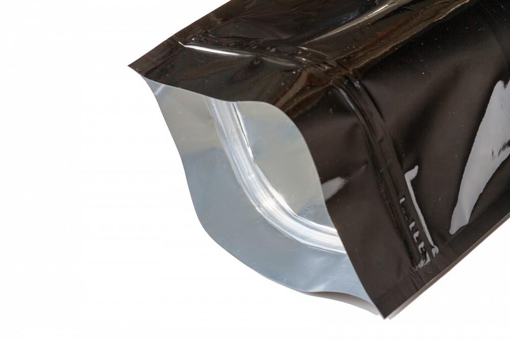 Упаковочные зип пакеты дой пак Forceberg HOME&DIY с замком zip-lock 22х30 см, черный, 4 шт в Саратове