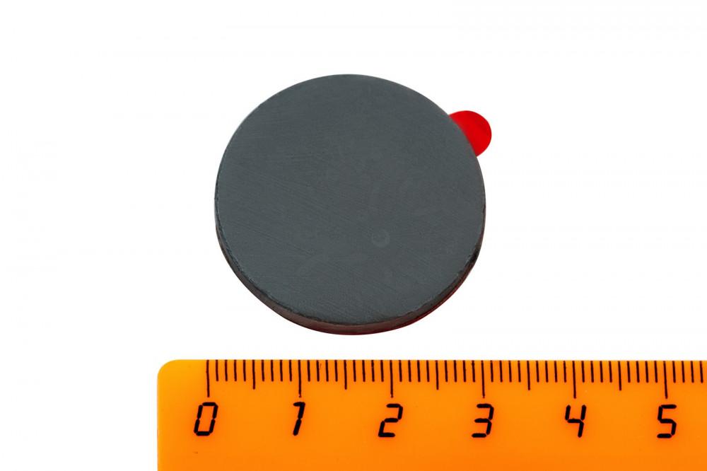 Ферритовый магнит диск 30х3 мм с клеевым слоем, 4 шт, Forceberg в Иваново