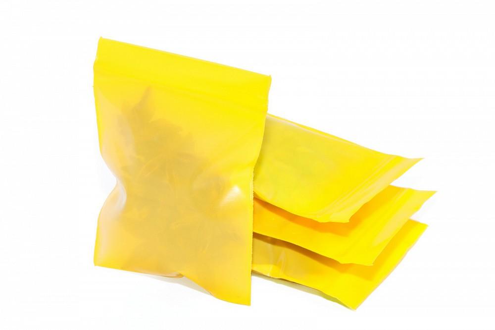 Упаковочные цветные зип пакеты Forceberg HOME & DIY с замком zip-lock 6х7 см, желтый, 50 шт в Саратове