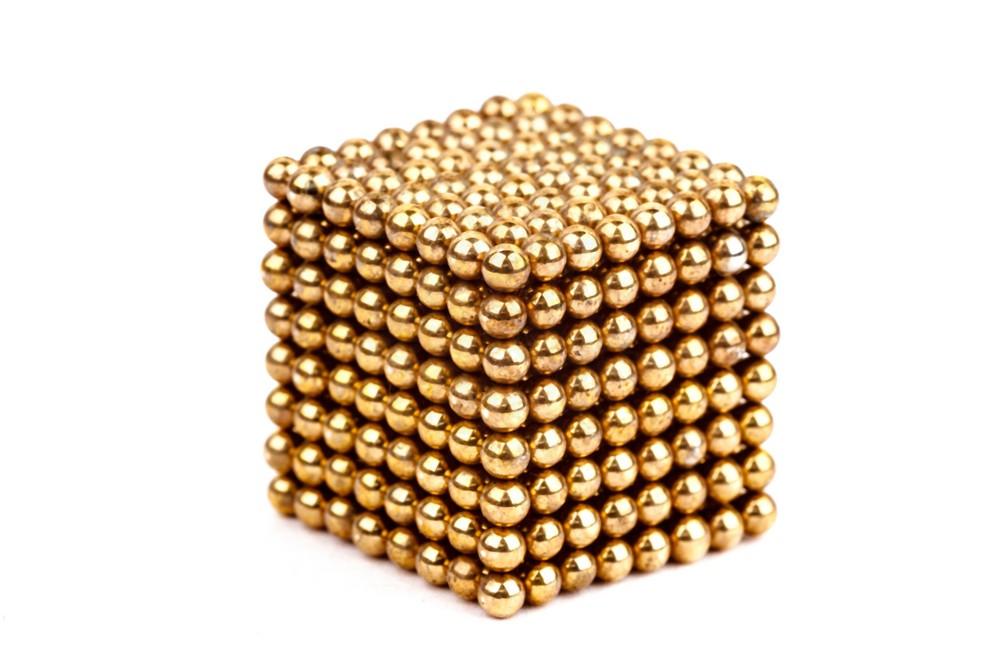Forceberg Cube - куб из магнитных шариков 2,5 мм, золотой, 512 элементов в Ижевске