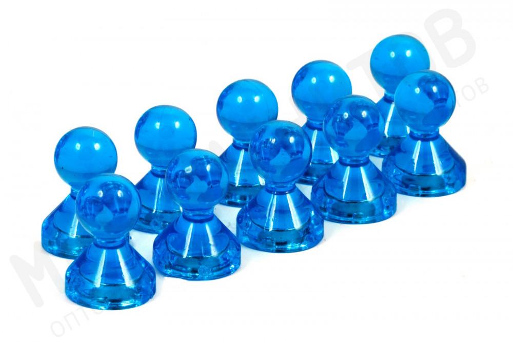 Неодимовый прозрачный магнит для магнитной доски Пешка Forceberg 15х21 мм, синий, 10 шт в Симферополе