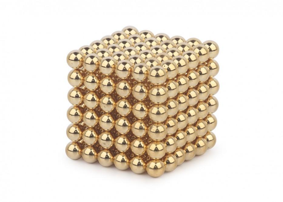 Forceberg Cube - куб из магнитных шариков 5 мм, золотой, 216 элементов в Москве