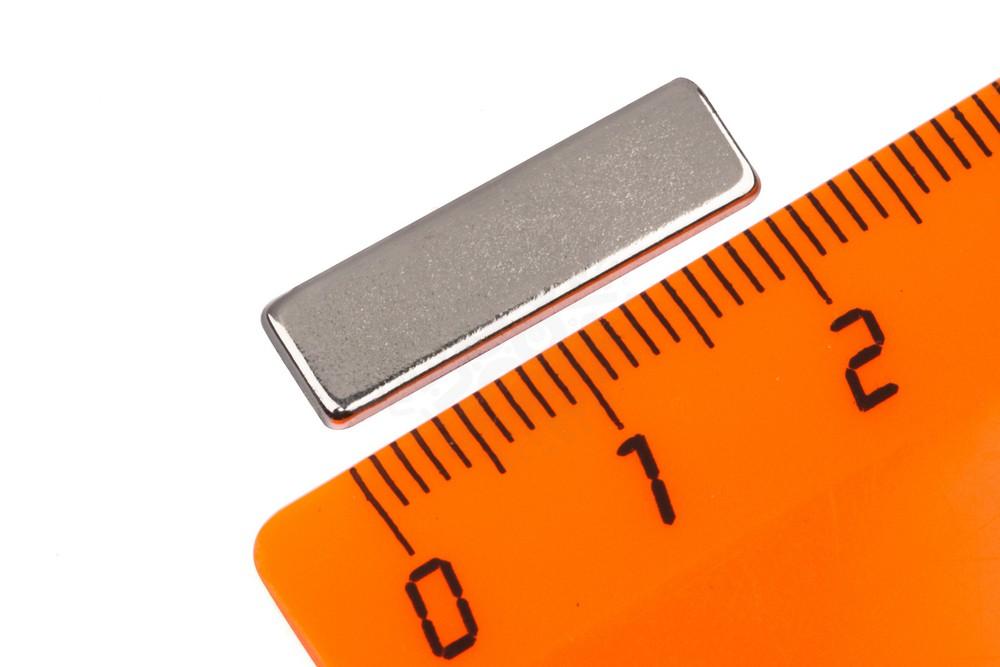 Неодимовый магнит прямоугольник 20.5х6х1.6 мм, N50M в Краснодаре